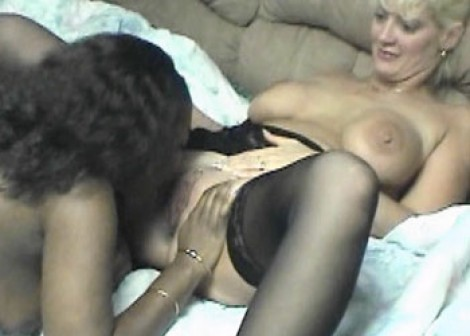 Charity plays with an ebony slut